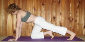 Hands-and-knees gastroc stretch